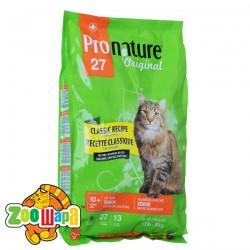 Pronature Original Сухой корм для для пожилых и малоактивных котов Senior Classic Recipe Chicken Formula (2,72 кг)