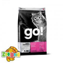GO! Сухой корм для взрослых кошек и котят Daily Defence Chicken Recipe с цельной курицей, фруктами и овощами (7,26 кг)