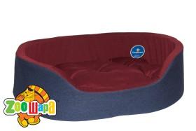 Compliment Лежак для собак ВУЛКАН (размер:62х44х17,5см) двухцветный