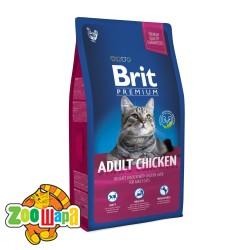 Brit Premium Cat Adult Chicken (8 кг) сухой корм с курицей для взрослых кошек всех пород
