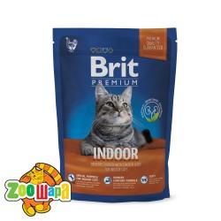 Brit Premium Cat Indoor (800 г) сухой корм с курицей для домашних взрослых кошек всех пород