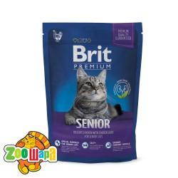 Brit Premium Cat Senior (300 г) сухой корм с курицей для пожилых кошек всех пород