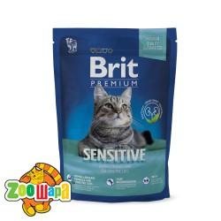 Brit Premium Cat Sensitive (800 г) сухой корм с  ягненком и рисом для взрослых кошек всех пород с чувствительным пищеварением