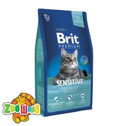 Brit Premium Cat Sensitive (8 kг) сухой корм с  ягненком и рисом для взрослых кошек всех пород с чувствительным пищеварением