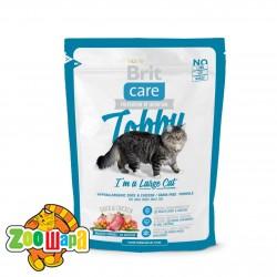 Brit Care Cat Tobby  (400 г) сухой корм с уткой и курицей для взрослых кошек крупных пород