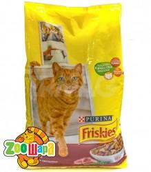 Friskies Сухой корм для взрослых кошек с говядиной,курицей и овощами 10кг